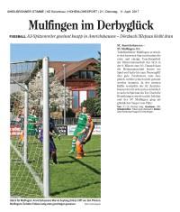 HZ Bericht SCA vs. Mulfingen