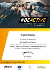 Urkunde BeActive 2017
