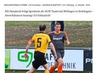 Heimspiel gegen den TSV Dörzbach/Klepsau
