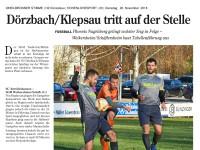 Heimspiel gegen die SGM Weikersheim / Schäftersheim
