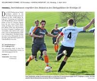 Heimspiel gegen den FC Creglingen