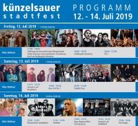 Der SCA beim Stadtfest Künzelsau 2019 * Programm Altes Rathaus *
