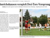 Bericht zum 1. Heimspiel aus der HZ v. 03.09.2019