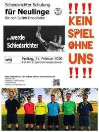 Schiedsrichter Schulung für Neulinge – mach mit !!!