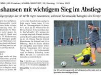 Spielbericht zum Heimspiel gegen den 1. FC Igersheim