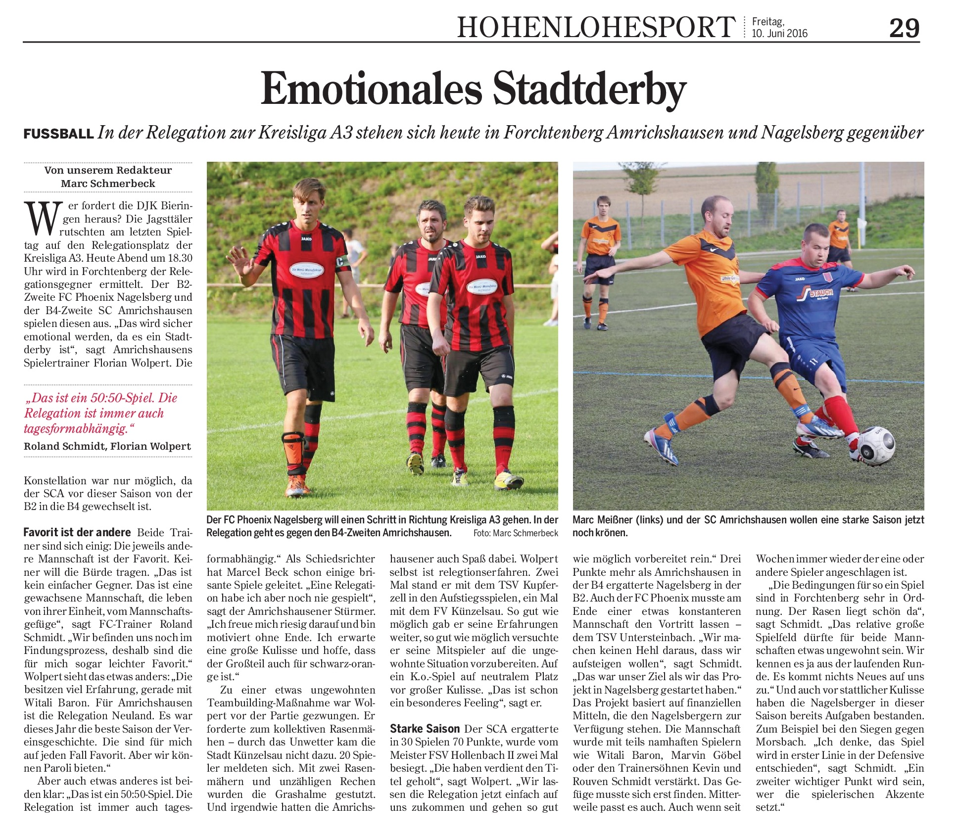 HZ 10.06.2016 Emotionales Stadtderby